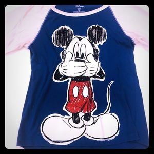 Disney Adult Small 3/5 Mickey Mouse T-shirt